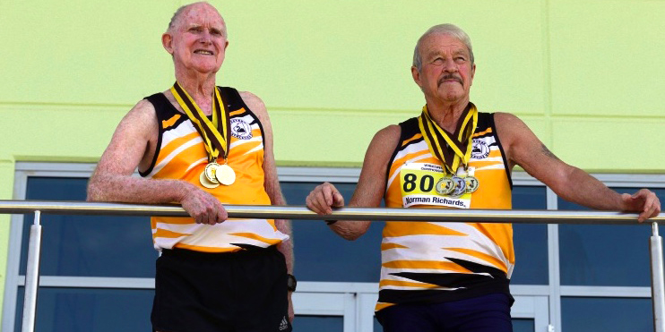 Barrie Kernaghan (left) and Norm Richards are longtime rivals and teammates.