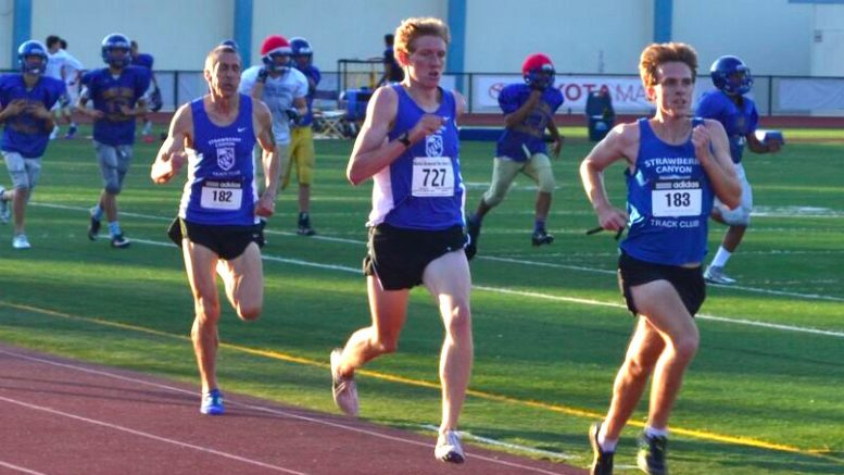 Tom LeGan, trailing some kiddie teammates last year, has targeted Nolan Shaheed's M50 WR mile of 4:25.04.