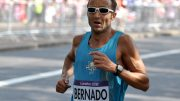 Toni_Bernadó is shown in his last of five Olympic marathons — at 2012 London Games.