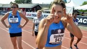 Joy Upshaw, a longtime friend, is as playful after a race as she is fierce during one.