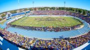 For some reason, the track stadium at North Carolina A&T is wasted on football.