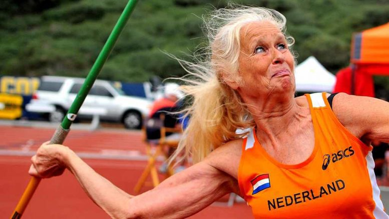 Annelies is an accomplished javelin thrower as well as high jumper, who proudly wears Dutch orange.