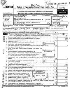 IRS Form 990 for mastersrankings.com in 2017.