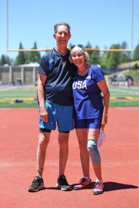 Jet-setters Jerry and Christel Donley have run masters meets around the country.