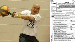 M55 webmaster John Seto was a weight throw specialist,