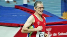 Joaquín Joyas likes to set records at Sabadell, Spain, with the latest being a sizzling 2:13.87 at age 60.
