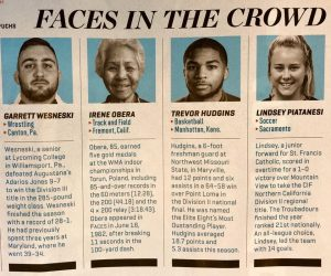 Here's how Irene is described in the current issue of Sports Illustrated.