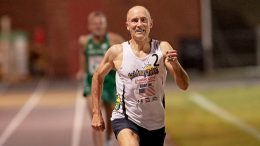 Brad Barton eyes the finish and M50 world record at Nashville mile in one of many sensational Dave Albo photos
