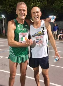 Shane and Brad became fast friends in Nashville after both broke the M50 mile world record.