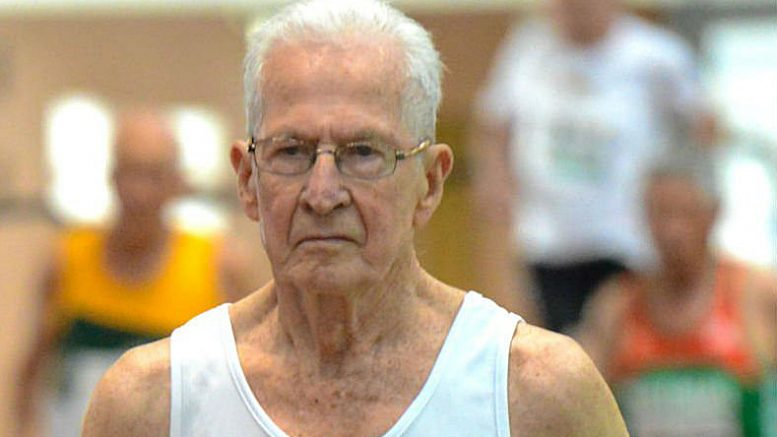 At 90, Earl Fee thinks he'll remain the oldest man to beat his age in the 400-meter dash.
