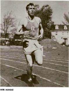 Pete Mundle, shown in 1951, was a distance star for Bill Bowerman at the University of Oregon.