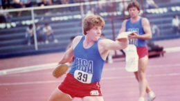 Nearly 40 years ago, John wore Team USA kit in a dual meet in Manila, Philippines.