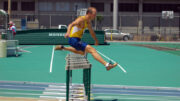 M60 hurdler Jeff Brower , shown at 2005 masters nationals in Hawaii, has cleared most bureaucratic barriers as well.