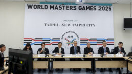 Rule No. 1 of World Masters Games publicity: Always feature your organizing team. Athletes? What athletes?