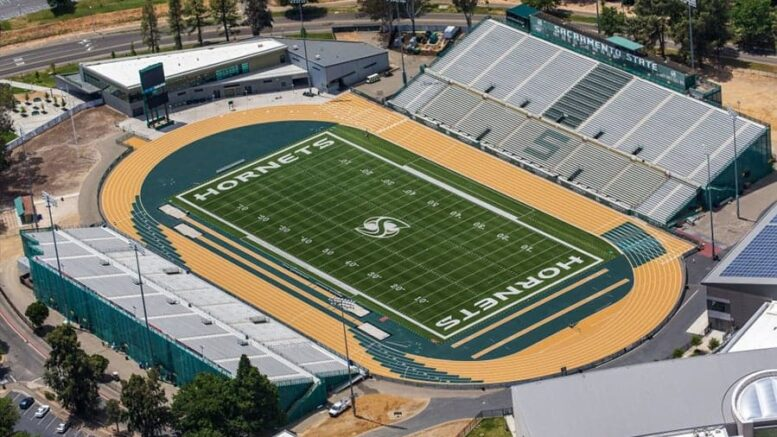 Sacramento State has a fast track but a dearth of shade for summertime scorching temps.